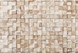 WoodyWalls 3D Wall Panels   Wood Planks are Made from 100% Reclaimed Wood   All Wood Squares are Handmade   Set of 10 Wood Planks for Rustic Wall Decor   DIY Wood Panels (9.5 sq.ft.) White Square