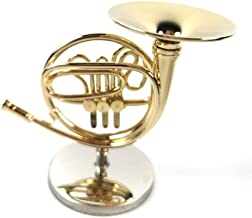 LS Mini Bassoon Model Western Musical Instrument Miniature Model Decoration Music Decoration Gift (French Horn)