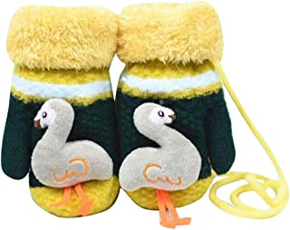 Children Winter Cute Wool Mittens, Thick Infant Warm Gloves, Flamingo Type, A03