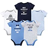 Luvable Friends Unisex Baby Cotton Bodysuits, Gentleman, 9-12 Months
