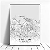 zhaoyangeng Latitude Artistic Canvas Map Poster | San Juan