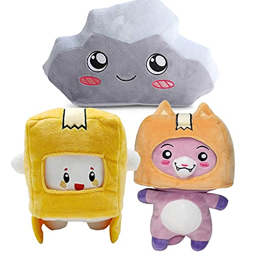 Lanky Plush Box Doll,Boxy and Rocky and Foxy Plush Toy Stuffed Animals Best Gift for Children Fans Collection (Boxy Foxy and Rocky)
