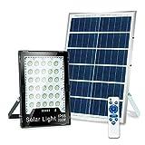 Luz de Inundación Solar LED de 200W, Luz de Seguridad LED de Exteriores con Lámpara de Atmósfera RGB y Remoto, IP66
