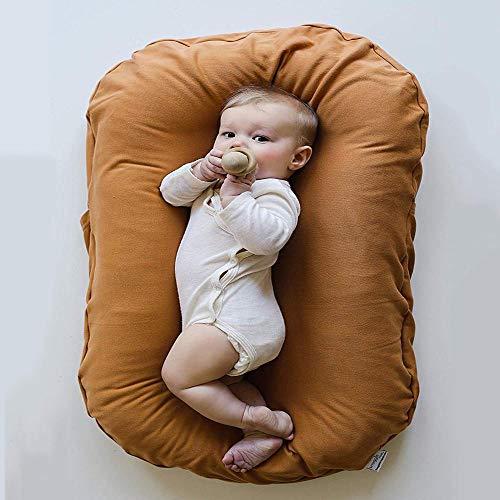 YANGGUANGBAOBEI Baby-Matratze, Kuschelnest 2-seitig,100% Baumwolle, Antiallergisch,2seitig Kokon öko Babybett Nestchen,Brown