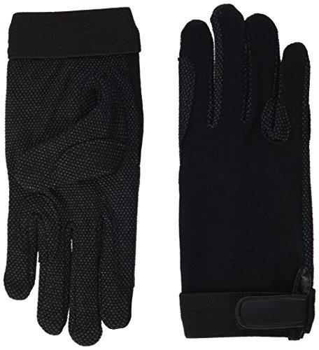 Pfiff 011318 Unisex Handschuhe Baumwolle , Reithandschuhe, schwarz (Schwarz), S