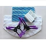Pièces de Rechange sous Vide Fit for Fmart Fmart E-550W (S) YZ-Q2S / Q1S / FM-R330 / FM-R150 / 302G (s) Aspirateur Robot Pièces 4X Brosse Latérale + 4X Filtre + 3X Mop Cloth Accessoires d'aspirateur