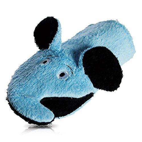 Gant de Toilette pour Enfants et bébés avec Motif Animal, Couleur : Bleu Clair