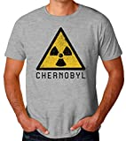 Radioactive Chernobyl Sign Artwork Camiseta para Hombres XX-Large