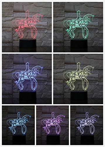Nachtlampje Amazone Te Paard Klein Nachtlampje 7 Kleuren Touch Optische Foto Tafel Decoratie Lamp, Geschikt Voor Slaapkamer Bar Sfeerlamp
