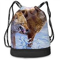 ジムサック ナップサック スポーツバッグ ドイツの画家 オオカミ 手提げポーチ 巾着袋 おしゃれバッグ アウトドア 旅行 登山 遠足用