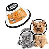 FayTun Cono per Animali Domestici Recupero, Collare Regolabile in ABS per Cani e Gatti e Gatti di Piccola Taglia S (S)