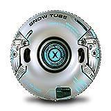 Marca Amazon – Umi Snow Tube, Heavy Duty Tubo inflable de nieve trineo para niños y adultos, juguetes de nieve gigantes para deportes de invierno diversión