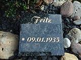 Pietra tombale, in granito, con incisione personalizzabile