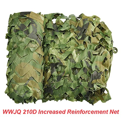 WWJQ Portable Camouflage Net Netting, Waterproof Sunshade Net Tarpaulin, Lightweight Sturdy,Various Sizes, Suitable For Army/Military/Hunting/Beach/Camping/Hide/Decoration