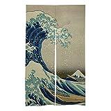 Promini Cortina japonesa Noren para puerta de habitación, cortina de separación, tapiz para colgar en la puerta o en el hogar o restaurante, 86 x 143 cm