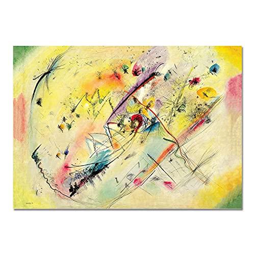 Giallobus - Quadro - Vassily Kandinsky - Immagini Luminose - Vetro Acrilico Plexi - 100x70 - Pronto da Appendere - Quadri Moderni per la casa