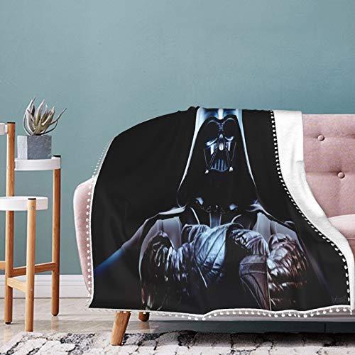 Darth Vader - Manta de franela ultra suave y ligera para casa, ropa de cama de colegio, 127 x 101 cm