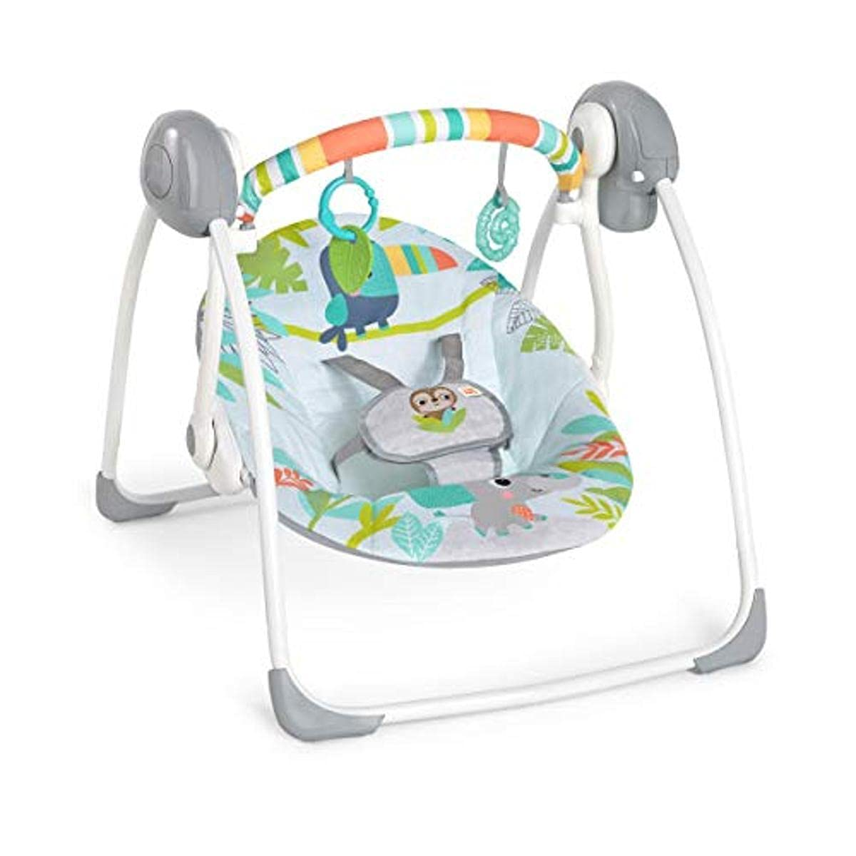 Rainforest Vibes Portable Compact Swing with Toy bar