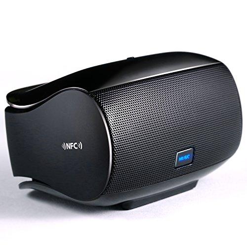 Bluetooth Lautsprecher Soundbox - Dual Treiber Windbeat Bluetooth NFC Speaker - Bluetooth V4.0 - AUX 3,5mm Klinke - 200mA Ladestrom - LED-Anzeige - tragbar