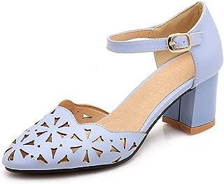 BalaMasa Womens ASL06450 Pu Block Heels