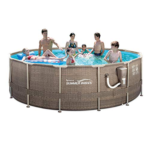 Best Summer Waves Pool Reviews - ​​Summer Waves 14ft x 48in Above Ground Frame Outdoor Swimming Pool