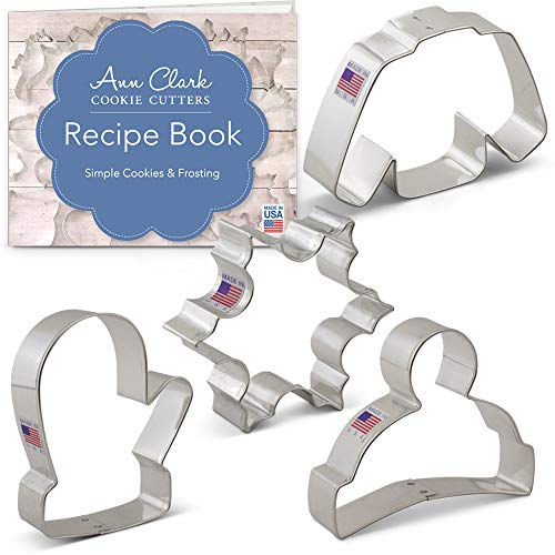Ann Clark Cookie Cutters 4-Piece Winter and Christmas Cookie Cutter Set