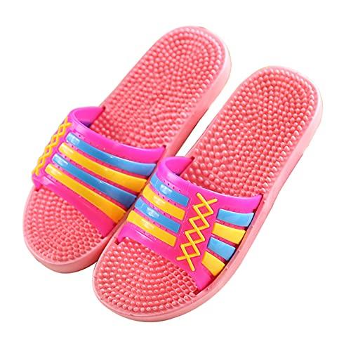 Pantuflas Zapatillas para Fascitis Plantar Mujer, Zapatos De Ducha Hombre Zapatillas De Masaje Antideslizantes Reflexología De Pies Sandalias Abierta Interiores Y Exteriores