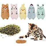 JJLIKE Catnip Toys for Indoor Cats - Cat Kicker Toys Interactive Plush Cat Bite Resistant Toys Cat Teething Chew Toy for Cats Kitten Kitty