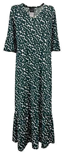 Marina Rinaldi Persona by Abito Donna Lungo Jersey Stampato Bianco/Verde Art 11.1622051 Origami (x_l)