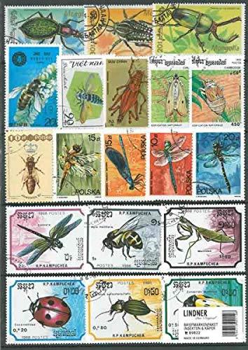 Lindner Briefmarkenpaket 89822: Insekten & Käfer (100 Briefmarken)