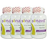 Tinnitus Relief Including Ringing in Ears, clicking, Roaring, Buzzing with All Natural Sonavil Science and Nature Blended togather for You Pack 4