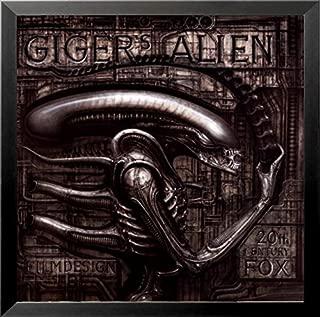buyartforless FRAMED Gigers Alien by HR Giger 22x22 Fantasy Science Fiction Art Print Poster