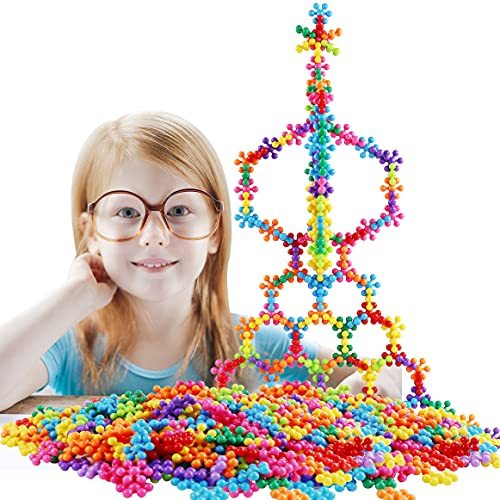 220 PCS Building Blocks Kids STEM Toys Educational Sorting and Stacking Blocks Toys Discs Set Interlocking Solid Plastic for Preschool Kids Boys and Girls Aged 3+,Safe Materials Creative Kids Toys