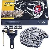 MRELC 428H Motorcycle Chain+ Chain Breaker,104-links Heavy Duty Drive Chain