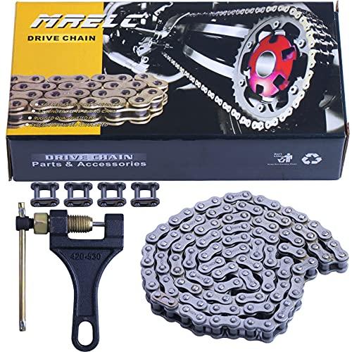 MRELC 428 Motorcycle Chain+ Chain Breaker,114-links Heavy Duty Drive Chain