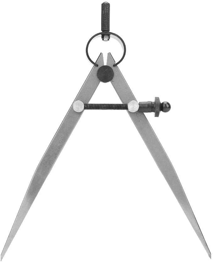 45# Acero cuero Craft Compass Wing Divider Einstellbare Federkompass-Teiler Leder Edge Line Marking Tools