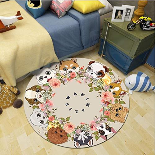 Haiqings Cartoon Teppich Runde Teppich Kinderzimmer Krabbeldecke rutschfeste Matte Baby Spielmatten Teppiche Dekor Home Floor 60cm