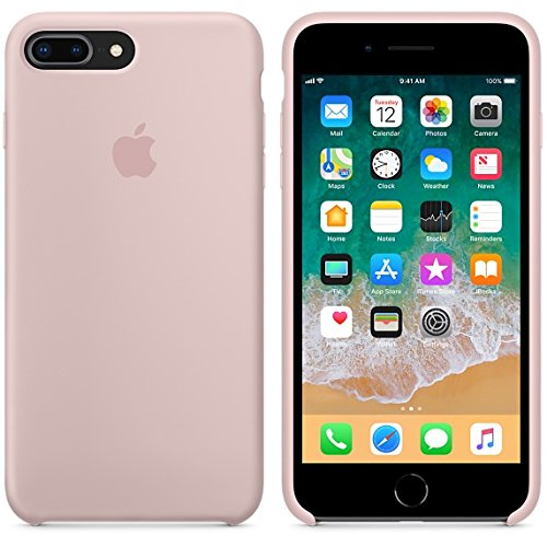 Funda para iPhone 7Plus/8Plus 5,5Inch Carcasa Silicona Suave Colores del Caramelo con Superfino Pelusa Forro, para Apple iPhone 7Plus/8Plus (Rosa Arena)