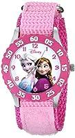 ディズニー Disney Kids' W000970 Frozen Snow Queen Watch with Pink Nylon Band [並行輸入品]