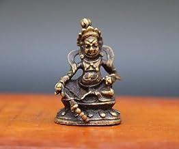 3.5 cm Bronze Amulet Yellow Jambhala Zambala God of Wealth Buddha Statue Sculpture Home Decoration