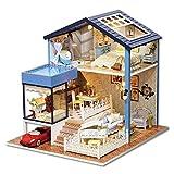 Maison de poupée miniature faite à la main, mini puzzles maisons de poupées avec lumières LED et meubles jouet meilleur cadeau pour les enfants