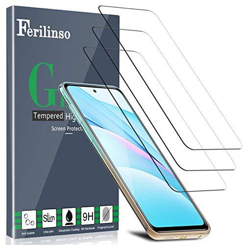 フェリリンソ[XiaomiMi 3T Lite / Mi 10T / 10T PRO 10G強化ガラス保護フィルム用5ピース、Xiaomi強化ガラス保護フィルム..。