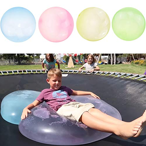 Wubble Bubble Ball Toy for Adults Kids Inflatable Water Ball Beach Garden Ball Soft Rubber Ball Outdoor Party 47in (Blue)