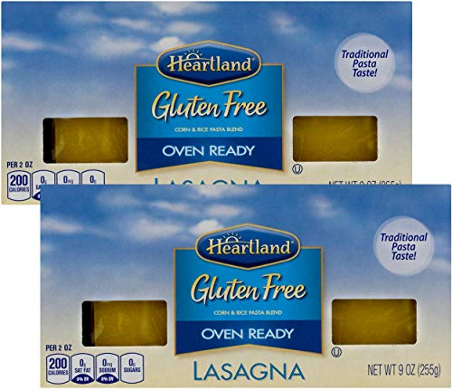Heartland Gluten Free Oven Ready Lasagna - Two Pack