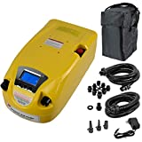 Seamax Blue Portable 12V Electric Air Pump 1 - 8.5 Psi for Inflatable Boat, Inflatable Kayak and More (No Battery)