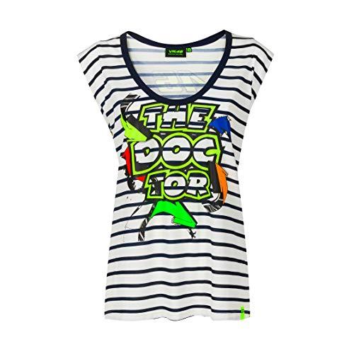 Valentino Rossi Collezione VR46 Classic T-Shirt Femme, Multicolore, M