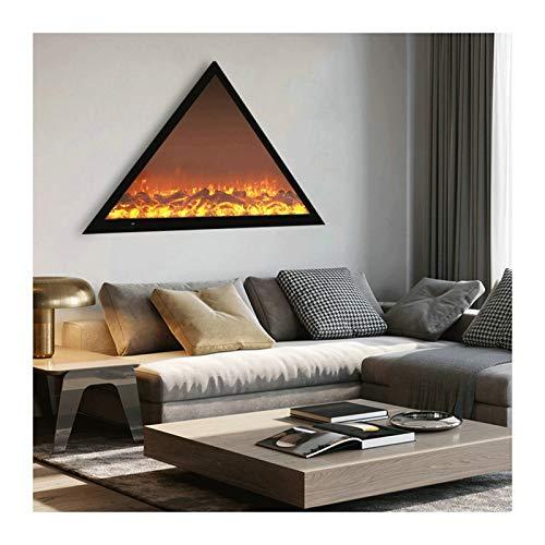 Elektrischer Kamineinsatz mit Flammen, Kaminheizung mit Fernbedienung und Timer, klassischer Stil Kamin