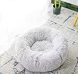 Lamzoom Deluxe, cuccia per gatti e cani di taglia piccola e media, con morbido cuscino, rotondo o ovale, a ciambella