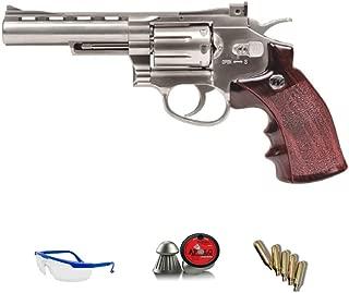 Revólver Special | Pack Pistola de Aire comprimido (CO2) Y balines de Plomo (perdigones) Cal. 4.5mm. Réplica Full Metal <3,5 Julios