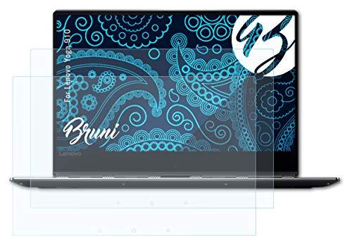 Bruni Schutzfolie kompatibel mit Lenovo Yoga 910 Folie, glasklare Bildschirmschutzfolie (2X)